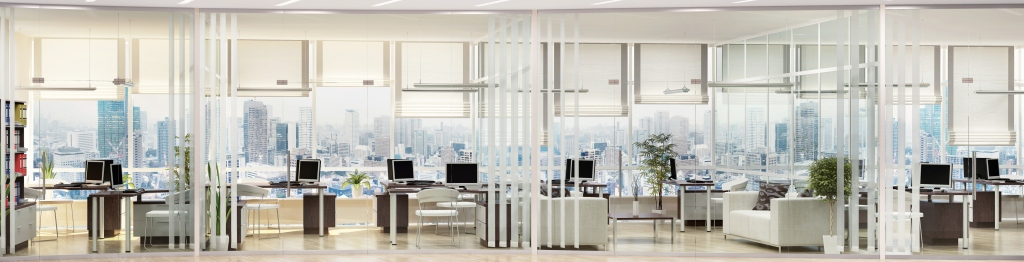 Modern large office interior design