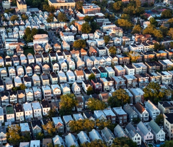 Flying over Residential District of New Jersey