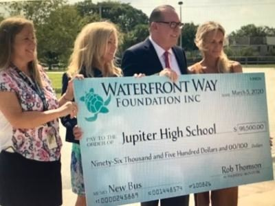 Over $100,000 was raised for the Special Needs Bus by Rob Thomson and the Waterfront Way Foundation.