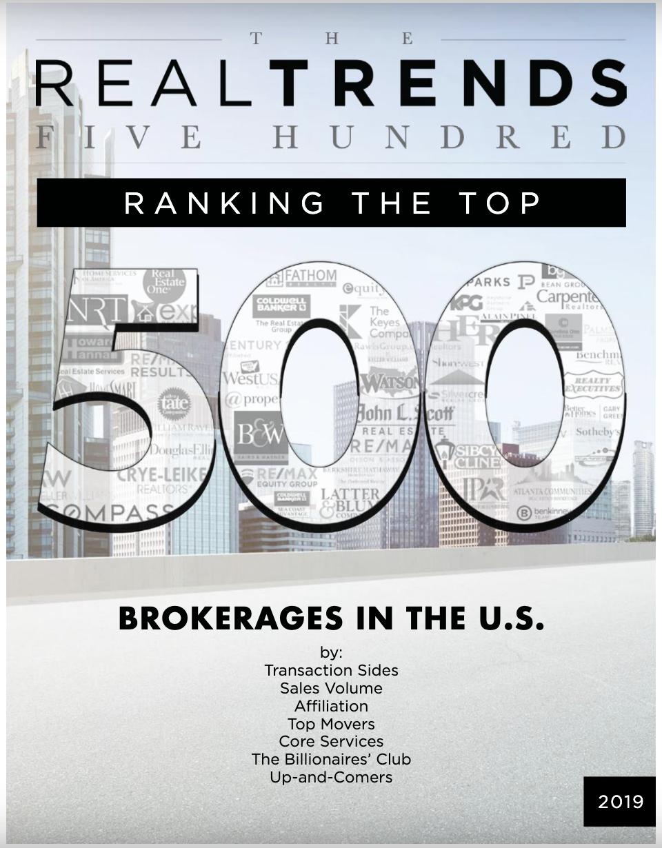 REAL Trends 500 Brokerage Rankings