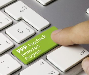 PPP Paycheck Protection Program - Inscription on Green Keyboard Key.