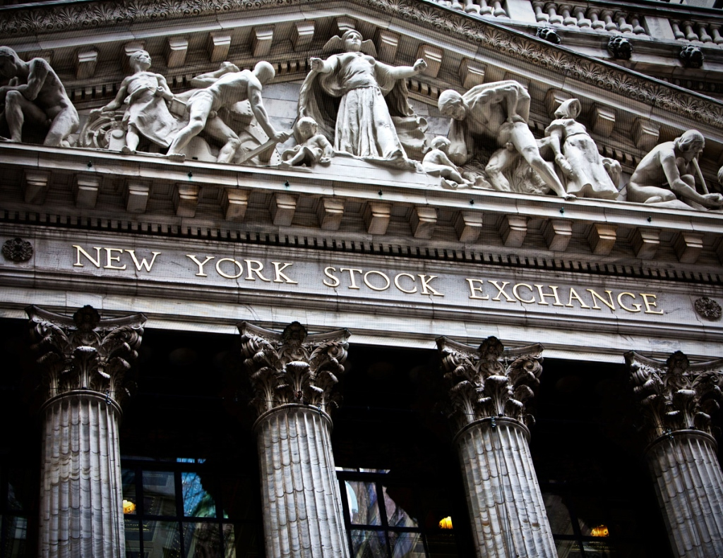 New York, 27th Dec 2011; New York Stock Exchange facade on Wall Street