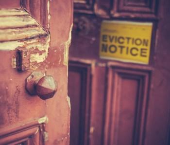 Eviction ban struck