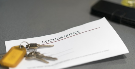 eviction ban stay